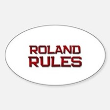 roland rules Oval Decal