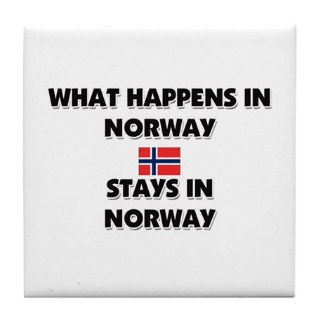 What Happens In NORWAY Stays There Tile Coaster