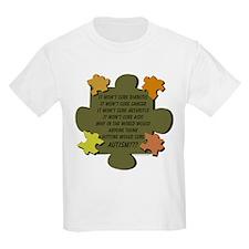 Hitting Wont Cure Autism Earthtones T-Shirt
