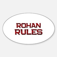 rohan rules Oval Decal