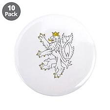 "Bohemian Lion 3.5"" Button (10 pack)"