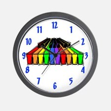 Rainbow Piano Wall Clock