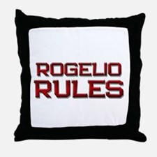 rogelio rules Throw Pillow