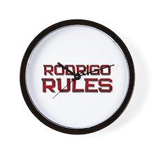 rodrigo rules Wall Clock