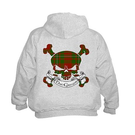 MacGregor Tartan Skull Kids Hoodie