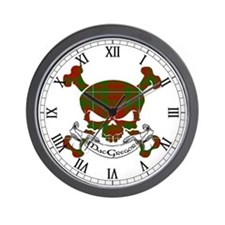 MacGregor Tartan Skull Wall Clock