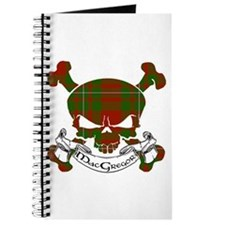 MacGregor Tartan Skull Journal