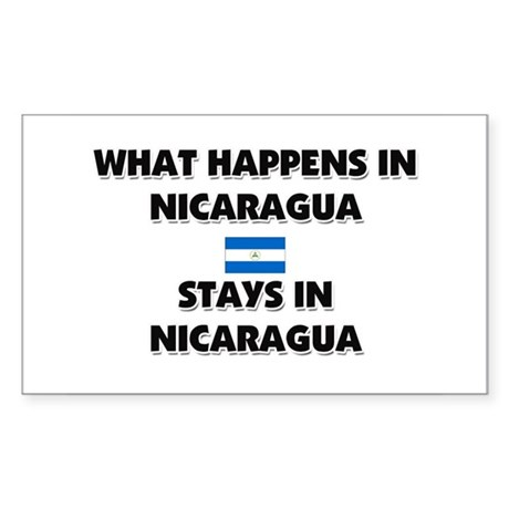 What Happens In NICARAGUA Stays There Sticker (Rec
