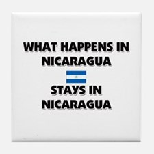 What Happens In NICARAGUA Stays There Tile Coaster