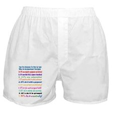 Up Late Occupational Therapy Boxer Shorts