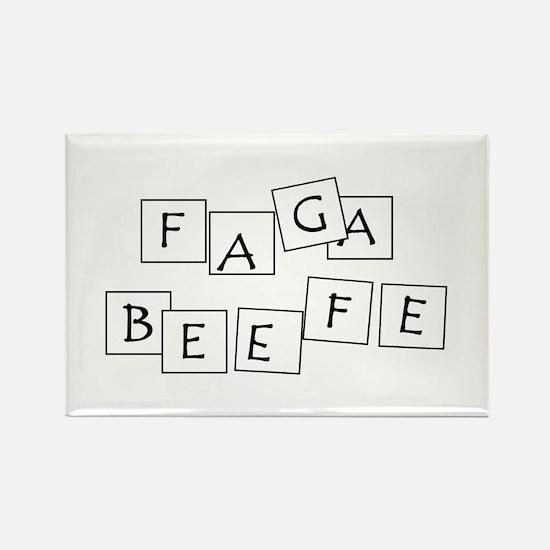 FAGABEEFE Rectangle Magnet