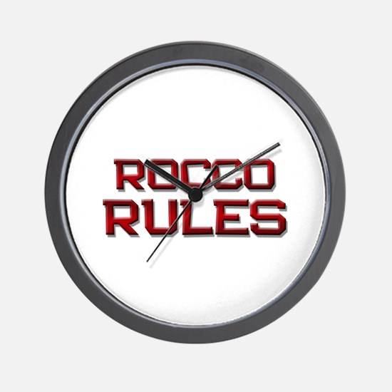 rocco rules Wall Clock
