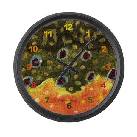 Brook Trout Skin Large Wall Clock