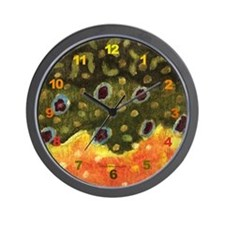Brook Trout Skin Wall Clock