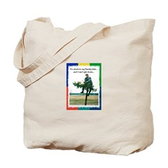 Stuck in a Branch! Tote Bag