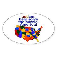Autism USA Oval Decal