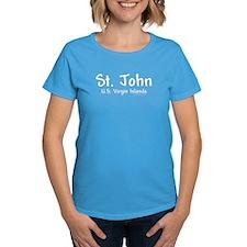 St John USVI - Women's Caribbean Blue T-Shirt