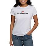 I Love VEGETARIANS Women's T-Shirt