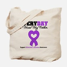 Alzheimer's MissMyFather Tote Bag