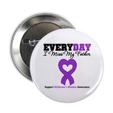 """Alzheimer's MissMyFather 2.25"""" Button (100 pack)"""