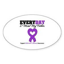 Alzheimer's MissMyFather Oval Decal