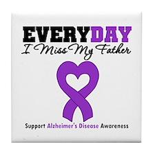 Alzheimer's MissMyFather Tile Coaster