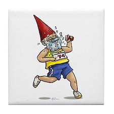 Running Gnome Tile Coaster