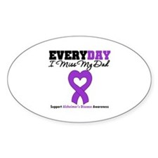 Alzheimer's MissMyDad Oval Decal