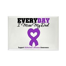 Alzheimer's MissMyDad Rectangle Magnet