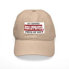 USDA 100% Approved Piece of Ass Baseball Baseball Cap
