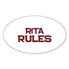 rita rules Oval Decal