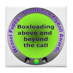 Boxloading Flyball Award Tile Coaster