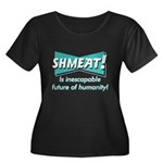 SHMEAT! Women's Plus Size Scoop Neck Dark T-Shirt