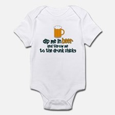 DIp Me In Beer And Throw Me T Infant Bodysuit