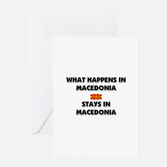 What Happens In MACEDONIA Stays There Greeting Car