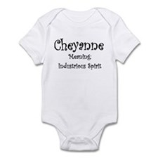 Cheyanne Name Meaning Infant Bodysuit
