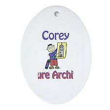 Corey - Future Architect Oval Ornament