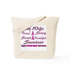 Pink Wife Words Tote Bag