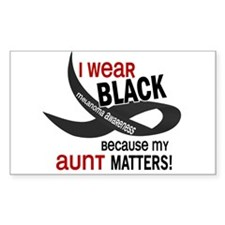 I Wear Black For My Aunt 33.2 Rectangle Decal