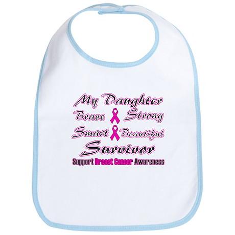 Pink Daughter Words Bib