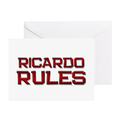 ricardo rules Greeting Cards (Pk of 20)