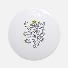 Bohemian Lion Ornament (Round)