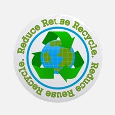 Recycle Earth Ornament (Round)