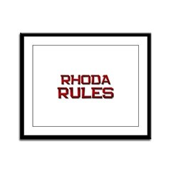 rhoda rules Framed Panel Print