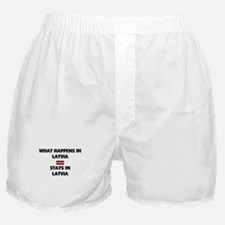 What Happens In LATVIA Stays There Boxer Shorts