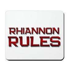 rhiannon rules Mousepad