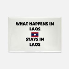 What Happens In LAOS Stays There Rectangle Magnet
