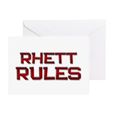 rhett rules Greeting Card