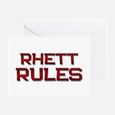 rhett rules Greeting Card