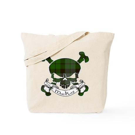 MacKay Tartan Skull Tote Bag